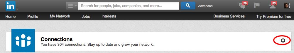 LinkedIn-Kontakte exportieren - Schritt 2