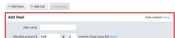 Angebotsformular OnePageCRM