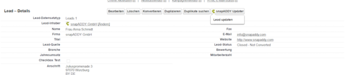 snapADDY Updater für Salesforce