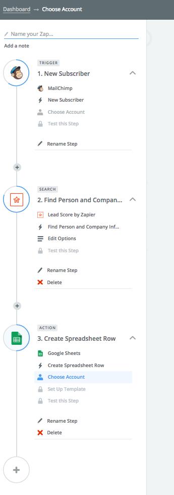 Zapier Lead Score Workflow einrichten