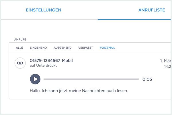 clinq Voicemail Abschriften