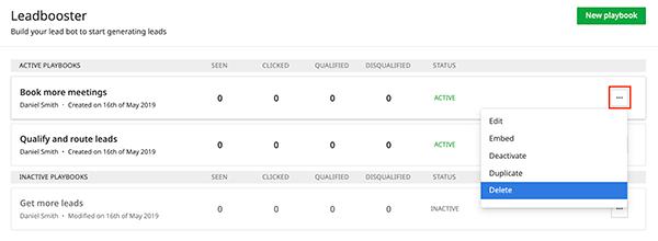 LeadBooster von Pipedrive Screenshot Auswertung