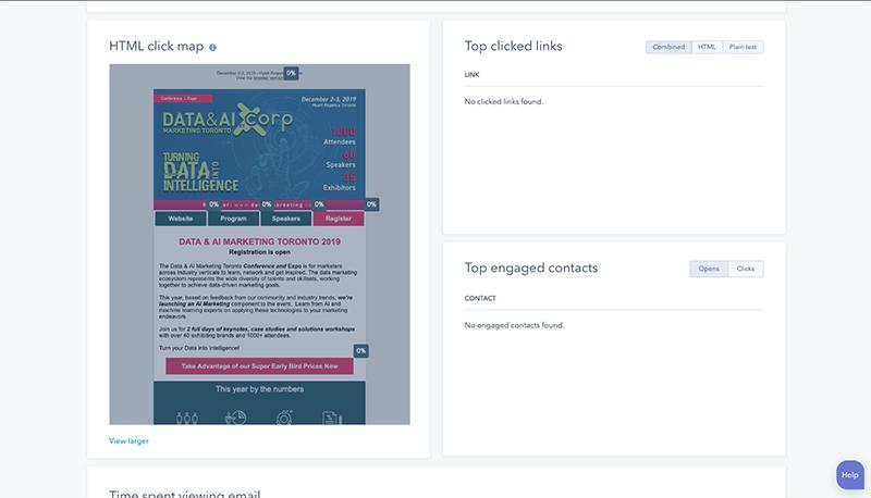 HubSpot CRM neue Funktionen_Email-Auswertungen-Klick Map