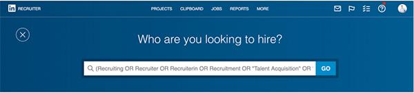 LinkedIn Recruiter Suche