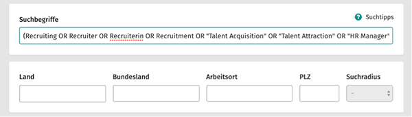 XING Talent Manager Suche